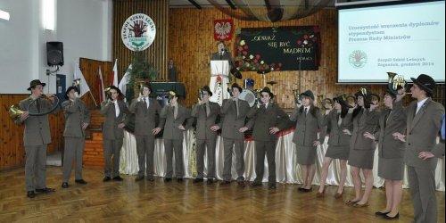 2014-12-09 Stypendyści Prezesa Rady Ministrów w Zagnańsku
